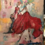 Dancing in colours 91*69 Akryl